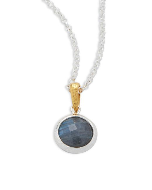 Gurhan | Metallic Labradorite And Sterling Silver Chain Necklace | Lyst