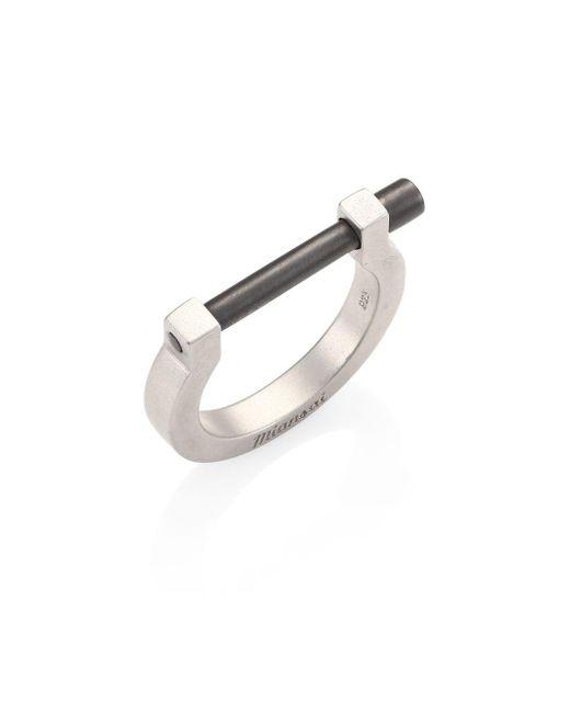 Miansai - Metallic Sterling Silver Screw Ring - Lyst