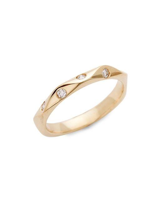 Saks Fifth Avenue Metallic Women's 14k Yellow Gold & Diamond Wedding Ring/size 7 - Size 7