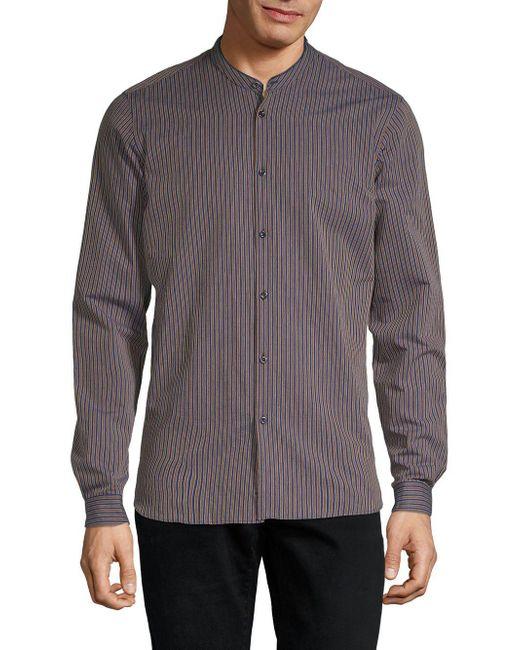 29363e1331c The Kooples - Blue Striped Button-down Shirt for Men - Lyst ...