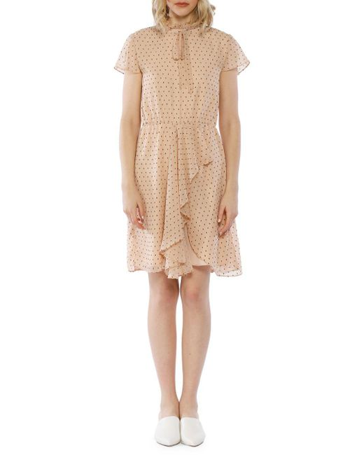 W118 by Walter Baker - Natural Arthur Swiss Dot Dress - Lyst