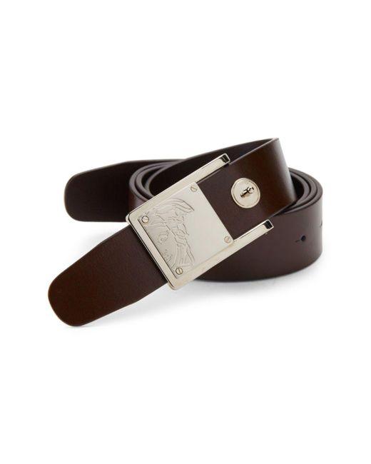 Versace Brown Leather Belt for men