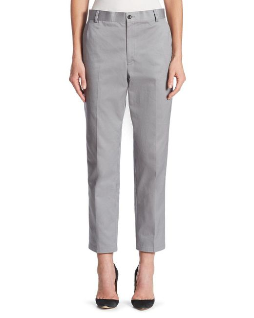 Thom Browne - Gray Cotton Twill Trouser - Lyst