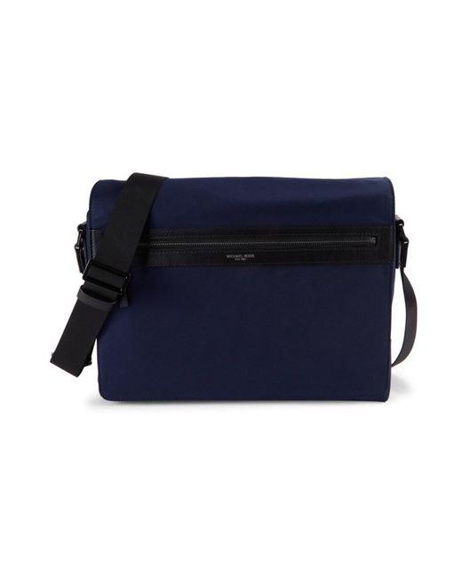 Michael Kors Blue Men's Parker Nylon Messenger Bag - Indigo for men