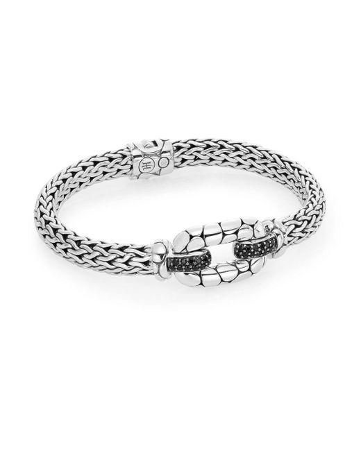 John Hardy - Metallic Kali Black Sapphire & Sterling Silver Station Bracelet - Lyst