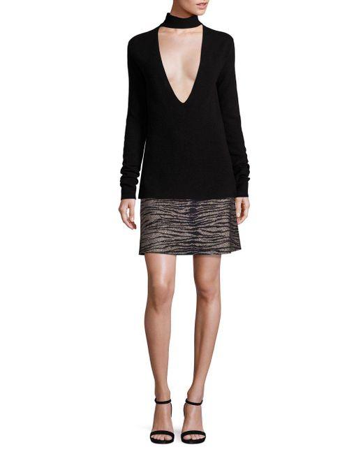 A.L.C. | Black Alonso Mettiger-print Skirt | Lyst