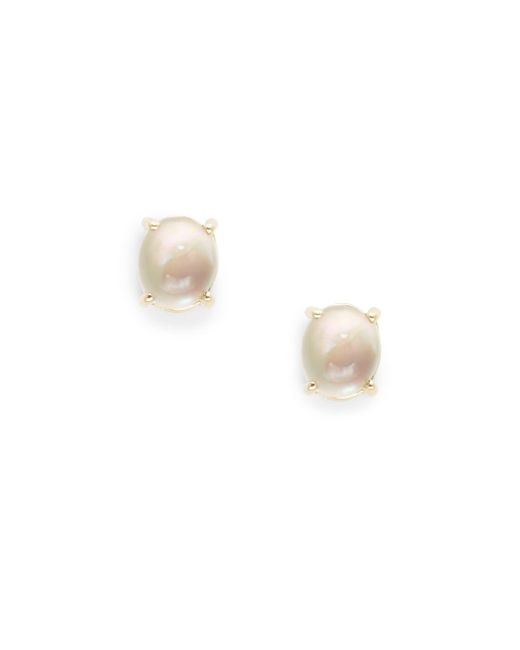 Roberto Coin - Metallic Smokey Quartz And Mother Of Pearl 18kt Gold Cocktail Earrings - Lyst