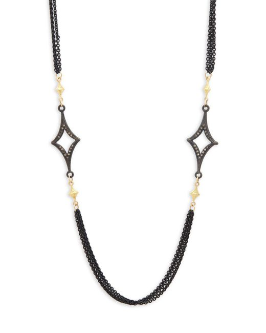 Armenta | Metallic Old World Champagne Diamond & 18k Goldplated Sterling Silver Crivelli-station Necklace | Lyst