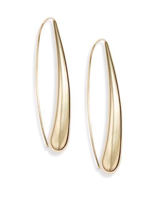 Saks Fifth Avenue - Metallic 14k Yellow Gold Arc Earrings - Lyst
