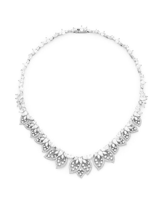 Adriana Orsini - Metallic Crystal Statement Necklace - Lyst