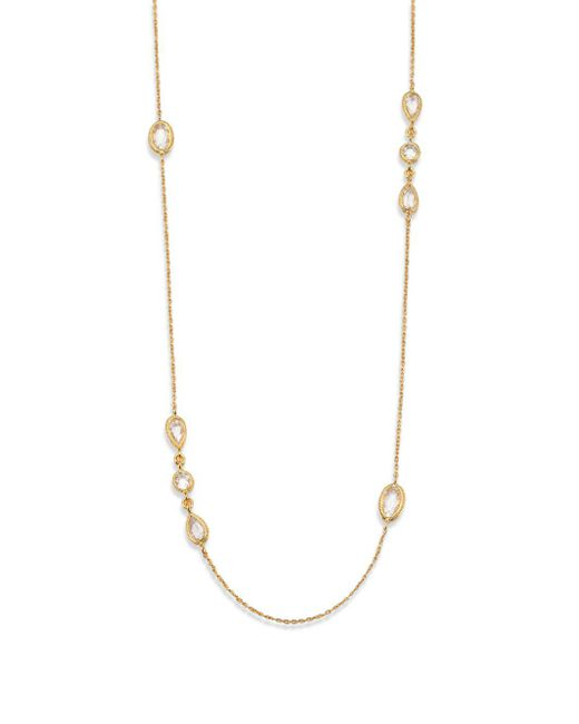 Adriana Orsini | Metallic Faceted Station Double-wrap Necklace | Lyst