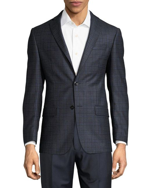 Michael Kors - Blue Plaid Wool Sportcoat for Men - Lyst
