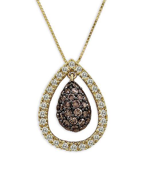 Le Vian - Metallic Chocolatier® Diamond Pendant Necklace (3/4 Ct. T.w.) In 14k Gold - Lyst