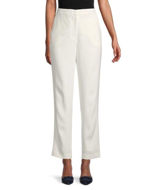 Rag & Bone Women's Front-hook Ankle Pants - White - Size 2