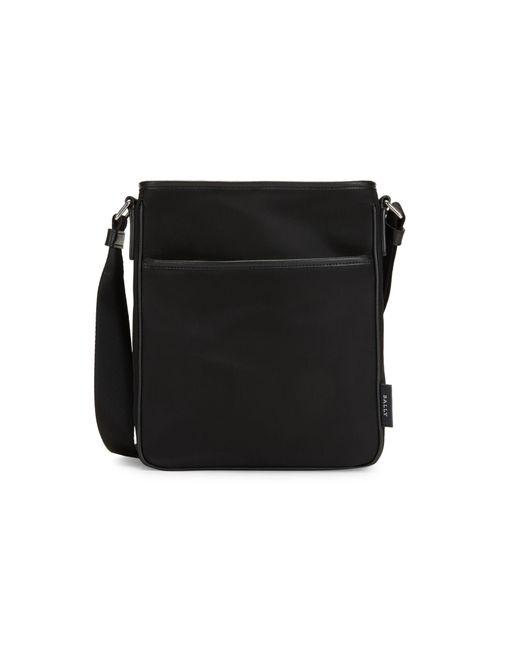 Bally Black Tuston Textile Shoulder Bag for men