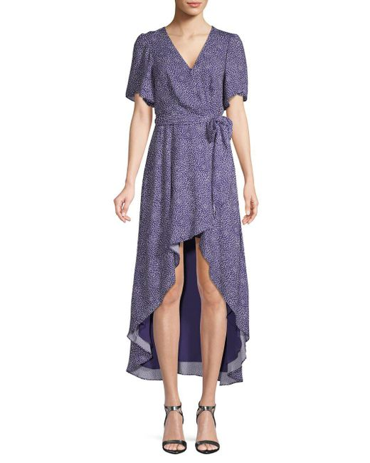 Parker Purple Printed Wrap Dress