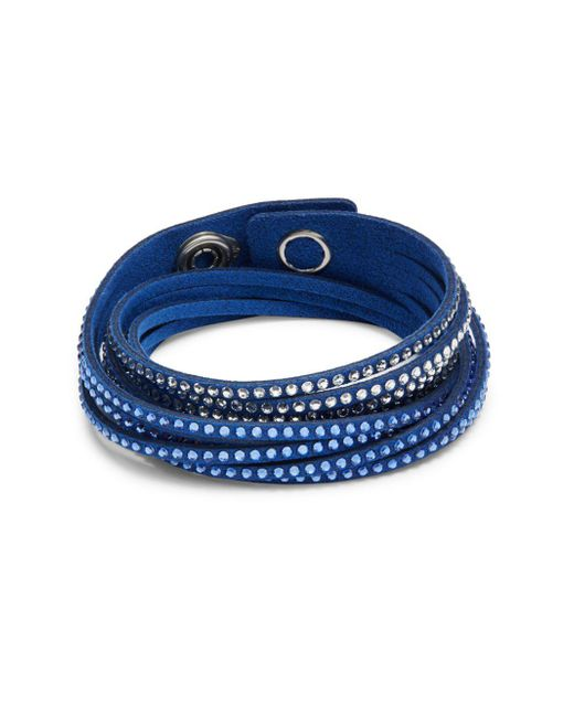 Swarovski | Blue Crystal Slake Medium Bracelet | Lyst