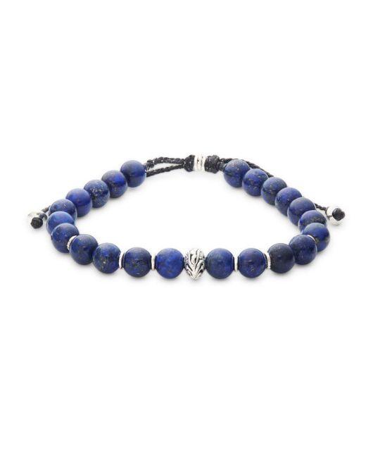 Link Up - Blue Polished Single Strand Bracelet - Lyst