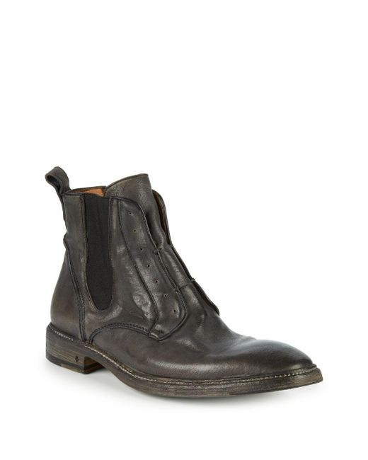 John Varvatos - Brown Norwegian Leather Laceless Chelsea Boots for Men - Lyst