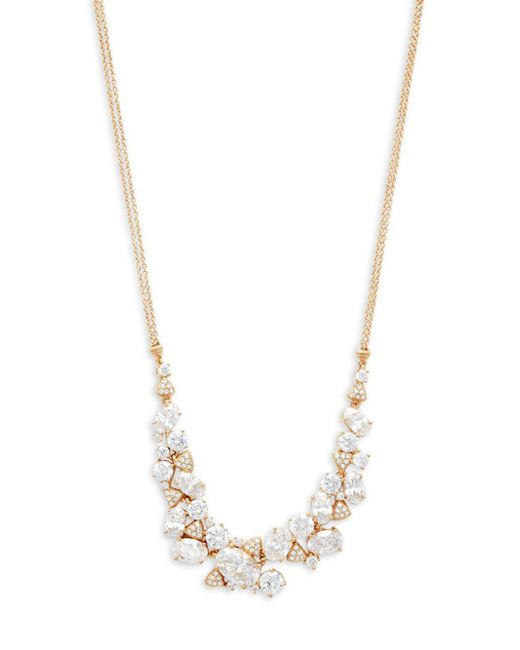 Adriana Orsini - Metallic Crystal Cluster Frontal Necklace - Lyst