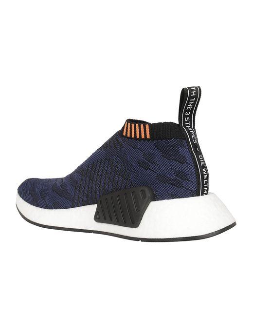 lyst adidas nmd primeknit sneakers in blau für männer