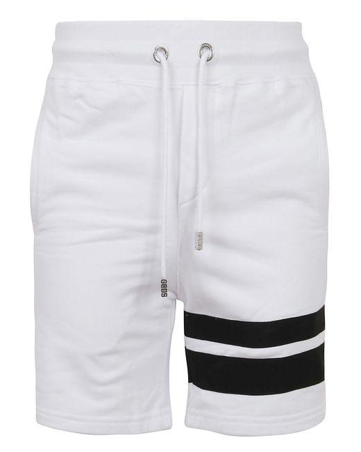 Gcds White Logo Shorts for men
