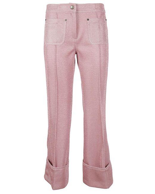 Marco De Vincenzo - Pink Pantalone Felpa Lurex - Lyst