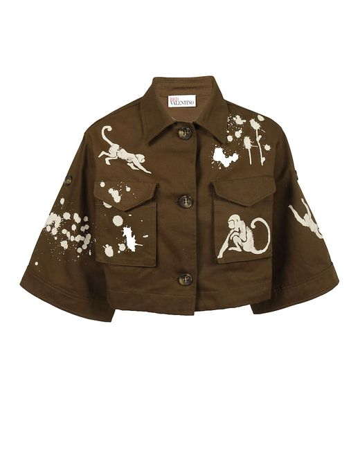 RED Valentino - Brown Giacca Militare - Lyst