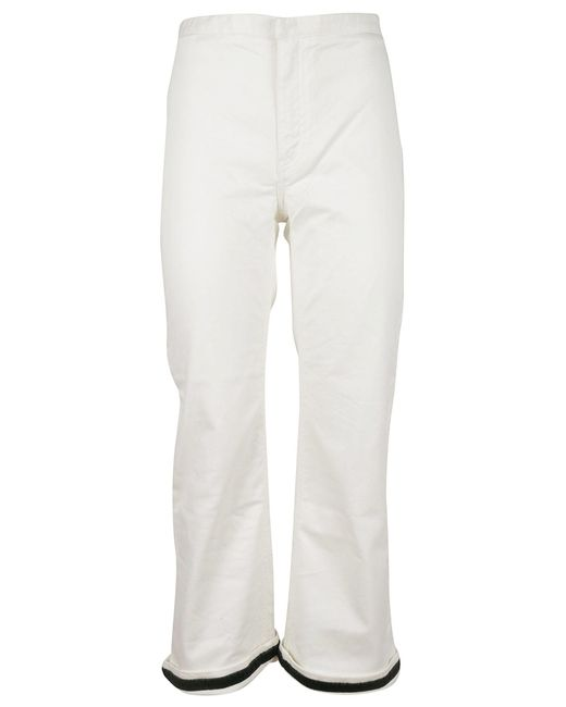 Carven - White Flared Jeans - Lyst
