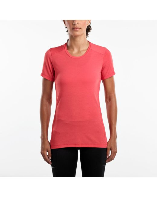 Saucony Red Freedom Short Sleeve