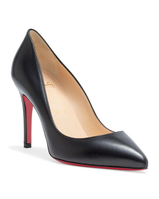 3435d8fe6d8 Christian Louboutin Decollete Leather Pumps in Black - Save 18% - Lyst