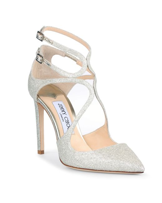 Jimmy Choo | Multicolor Lancer 100 Patent Dusty Glitter Pumps | Lyst