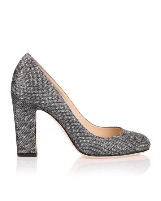 Billie 100 grey glitter fabric pump Jimmy Choo London Buy Best Sale With Paypal Free Shipping Cheapest Price d2rlxYl