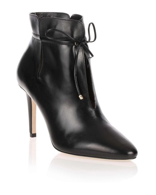 Jimmy Choo - Murphy Black Leather Ankle Boot Us - Lyst