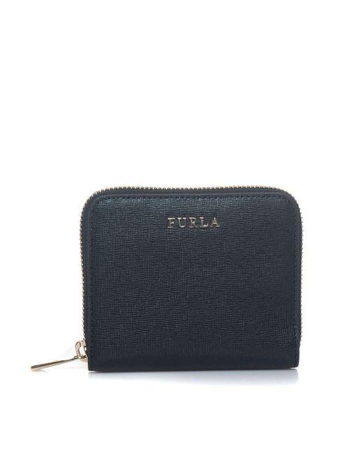 Furla Black Wallet With Logo