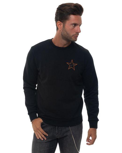 Emporio Armani Black Star-print Sweatshirt for men