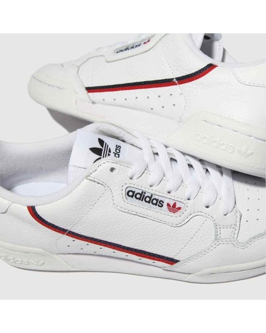 White \u0026 Red Continental 80 Trainers