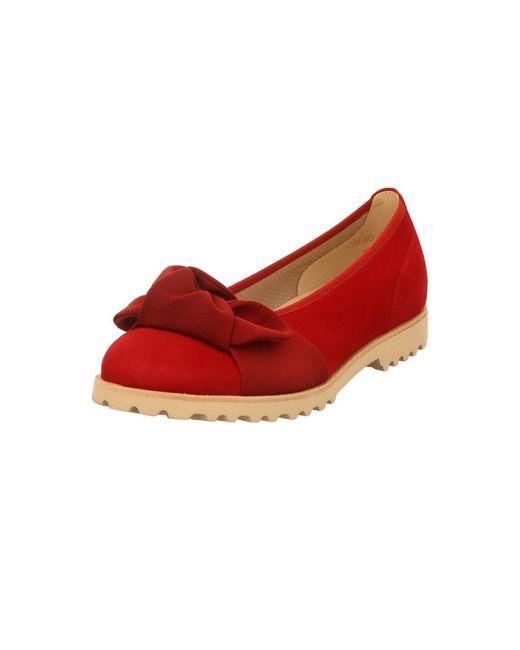 Gabor Red Ballerinas