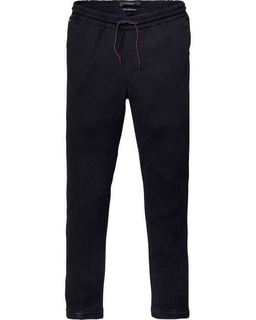 Scotch & Soda | Blue Mott - Jogger Styled Dress Trousers Super Slim Fit for Men | Lyst