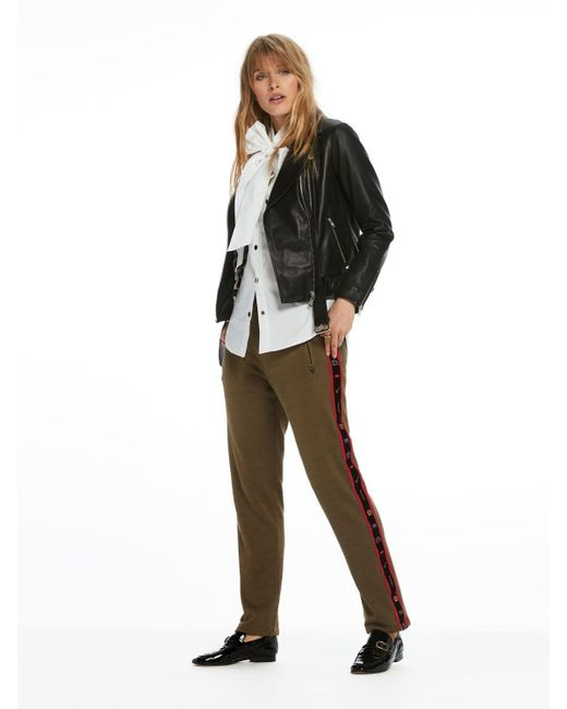 Scotch & Soda | Brown Taped Detail Sweat Pants | Lyst