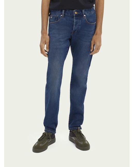 Scotch & Soda Ralston Jeans Van Een Katoenmix – Submerged in het Blue voor heren