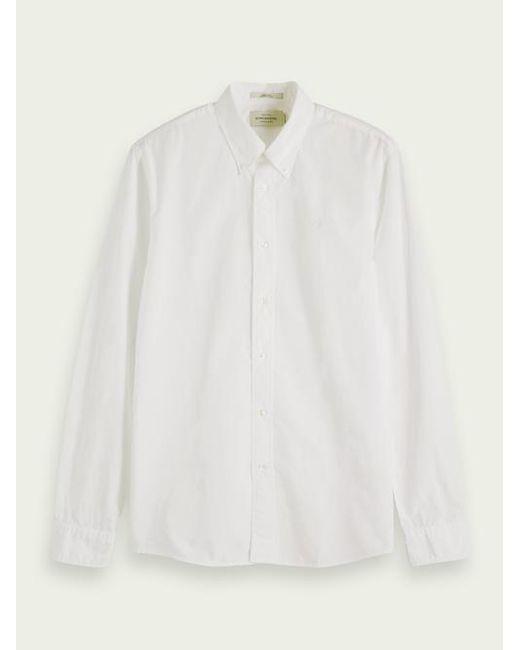 Scotch & Soda Poplin Overhemd in het White voor heren