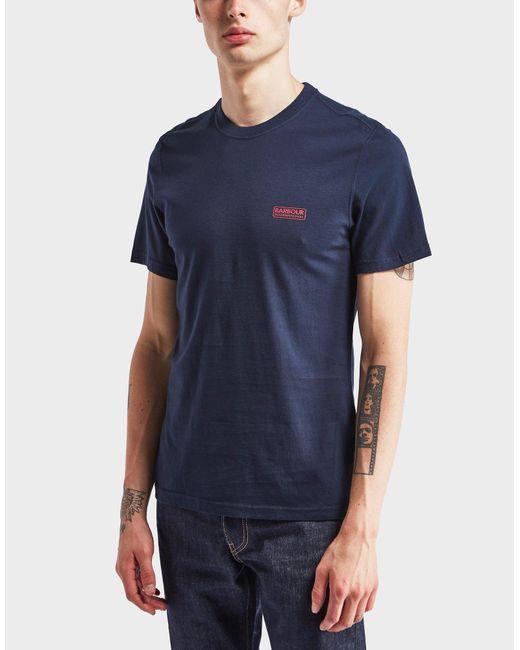 Barbour | Blue International Short Sleeve Logo T-shirt for Men | Lyst