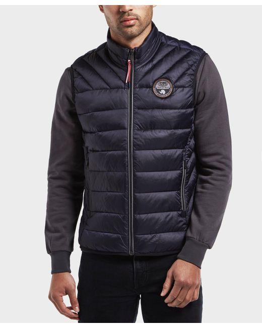 Napapijri - Blue Aerons Vest for Men - Lyst