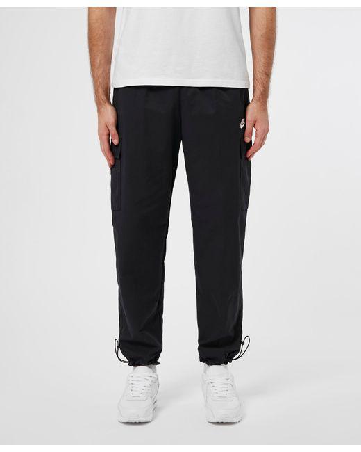 Nike Black Woven Cargo Track Pant for men