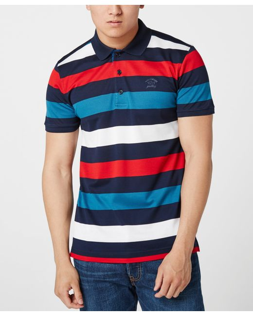 Paul And Shark   Blue Multi Stripe Polo Shirt for Men   Lyst