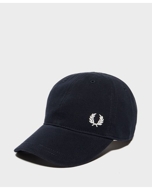 Fred Perry   Blue Pique Cap for Men   Lyst