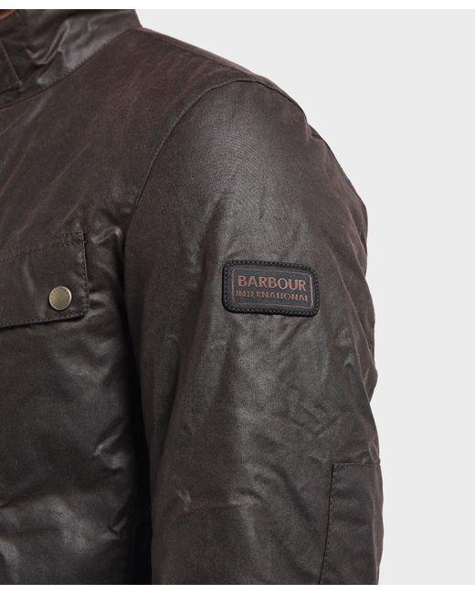 Lyst Wax Barbour International in Duke for Padded Men Jacket Black rtr4vwq . ff505dc1c15