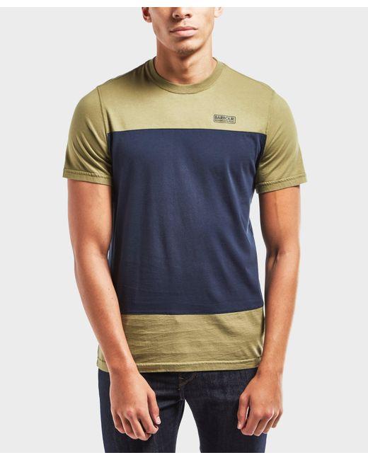 Barbour | Blue International Panel Short Sleeve T-shirt for Men | Lyst