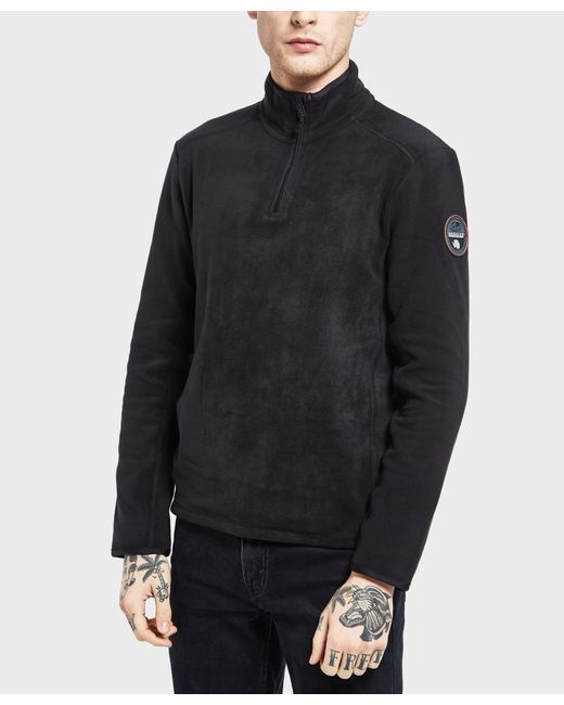 Napapijri | Black Tambo Half Zip Sweatshirt for Men | Lyst